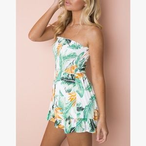 Pants - 🌴🌴Just My Style Green Floral Romper